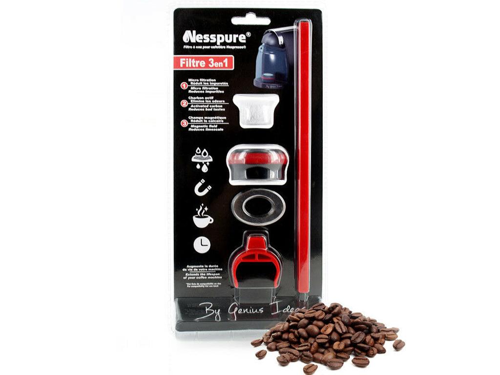 Genius Ideas Ανταλλακτικό Φίλτρο Νερού 3 σε 1 για το σύστημα φίλτρου για μηχανές ηλεκτρικές οικιακές συσκευές   καφετιέρες και είδη καφέ