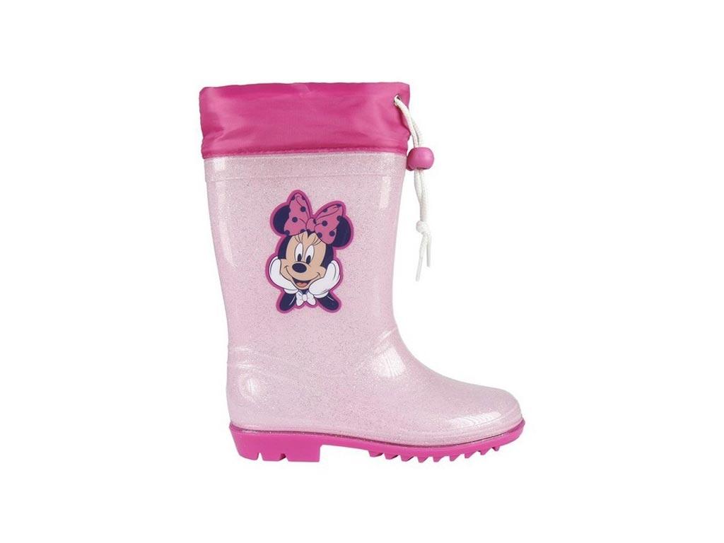 Disney Παιδικές Μπότες Γαλότσες με θέμα Minnie Mouse σε Ροζ χρώμα σε Νούμερο 28  μωρά και παιδιά   είδη ένδυσης και υπόδησης για παιδιά