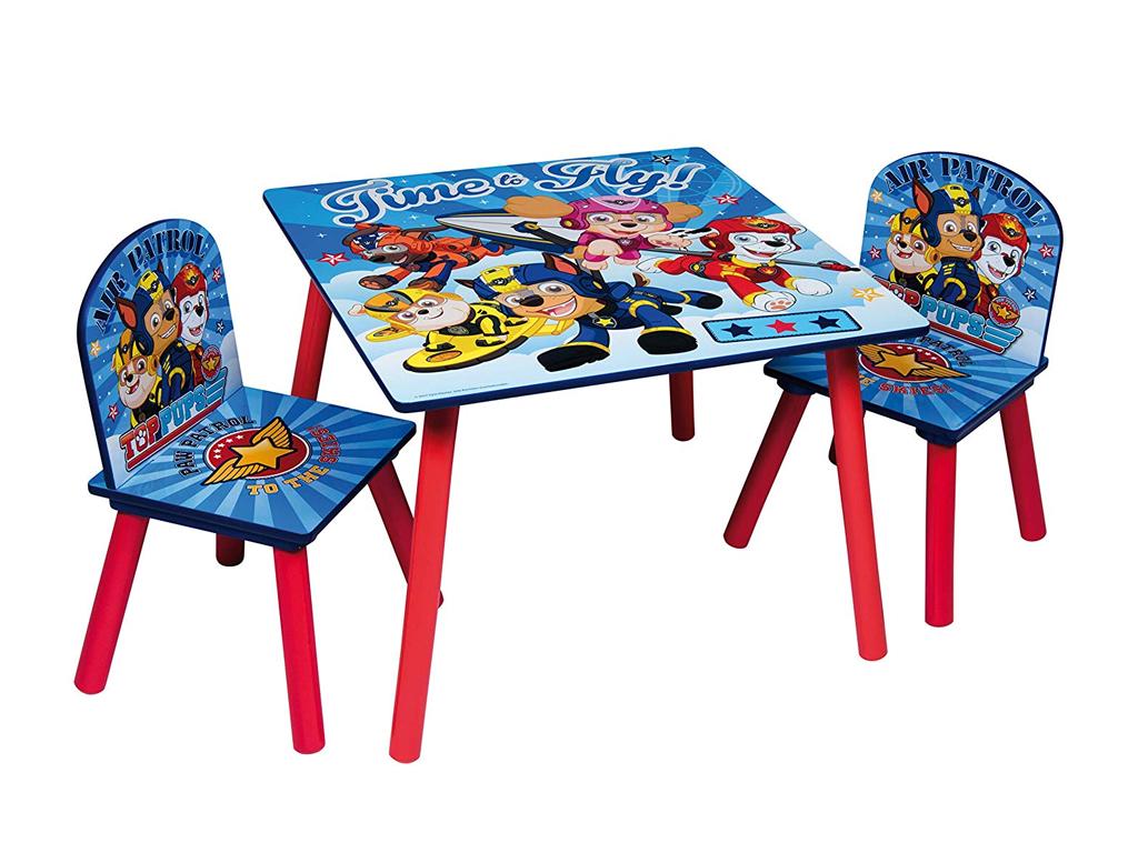 Paw Patrol Ξύλινο Σετ Τραπεζάκι με 2 Καρέκλες για παιδιά κατάλληλο για ηλικίες α μωρά και παιδιά   παιδική διακόσμηση