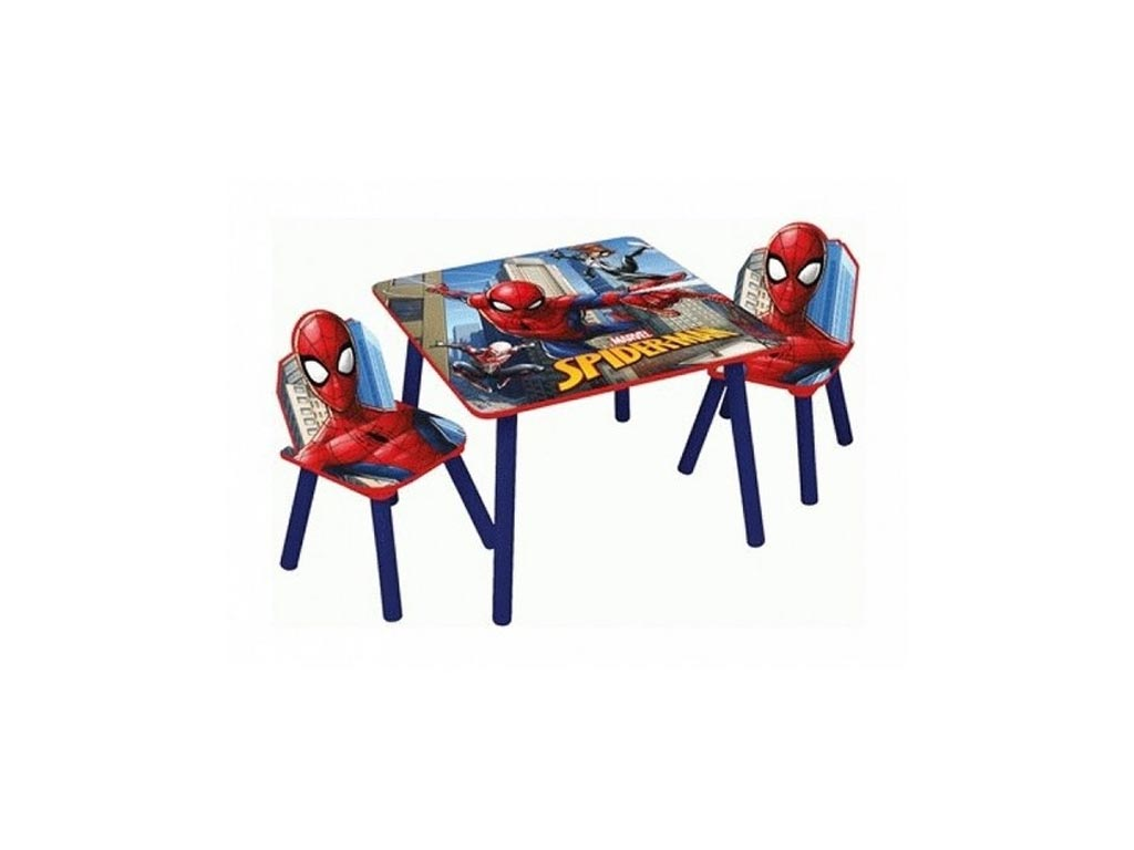 Spiderman Ξύλινο Σετ Τραπεζάκι με 2 Καρέκλες για παιδιά με θέμα Spiderman Διαμέτ μωρά και παιδιά   παιδική διακόσμηση