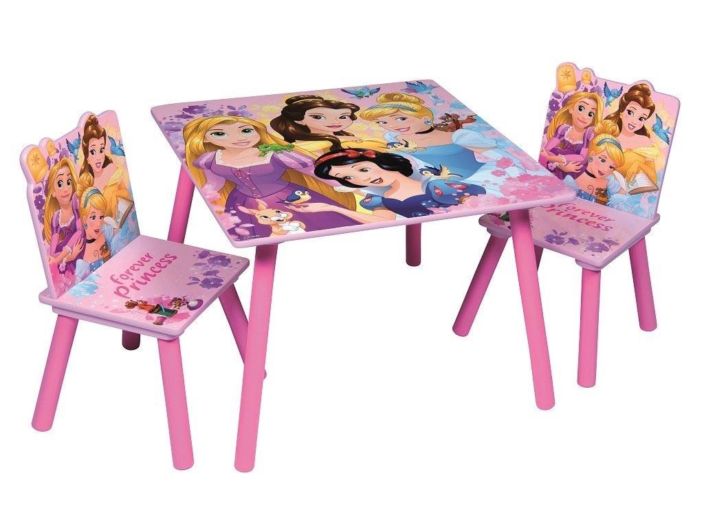 Disney Ξύλινο Σετ Τραπεζάκι με 2 Καρέκλες για παιδιά με θέμα Πριγκίπισσες της Di μωρά και παιδιά   παιδική διακόσμηση