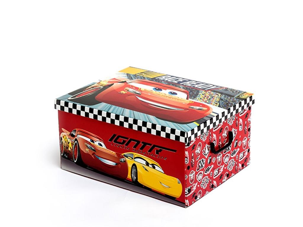 Χάρτινο Παιδικό κουτί αποθήκευσης Cars, διαστάσεων 39x35x51 εκατοστά - Cb έπιπλα   μπαούλα και κουτιά αποθήκευσης