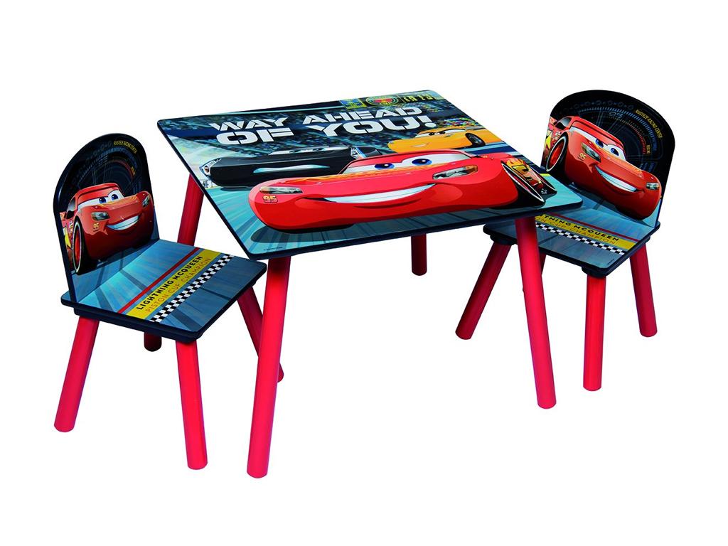 Disney Cars 3 McQueen Ξύλινο Σετ Τραπεζάκι με 2 Καρέκλες για παιδιά κατάλληλο γι μωρά και παιδιά   παιδική διακόσμηση