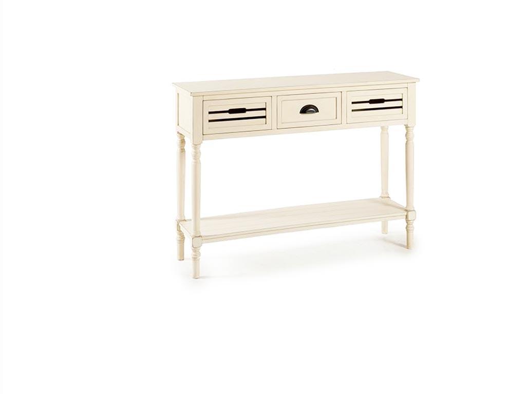 Ξύλινο Έπιπλο Εισόδου Συρταριέρα με 3 Συρτάρια σε Λευκό χρώμα, 34x113x81cm, Gift έπιπλα   έπιπλα εισόδου και σύνθετα