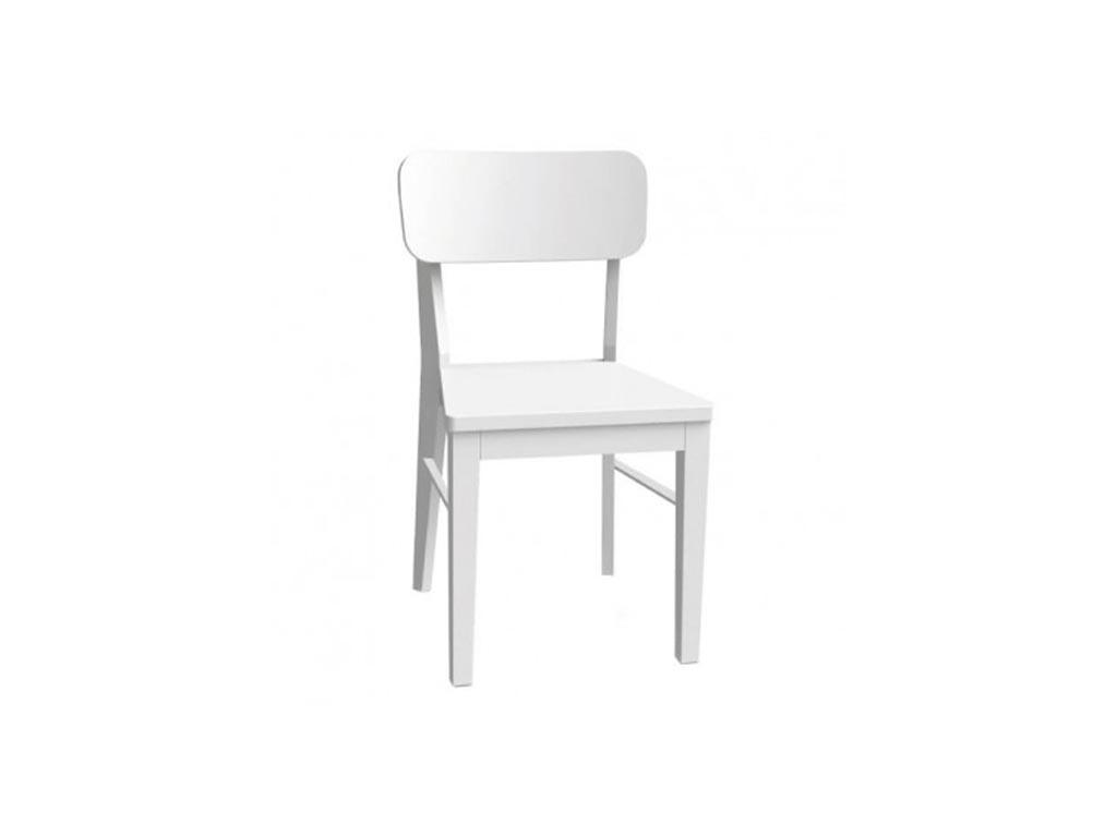 Elephant Ξύλινη Καρέκλα εσωτερικού χώρου σε Λευκό χρώμα, 86x45.5x86cm, Chair Vici - Elephant