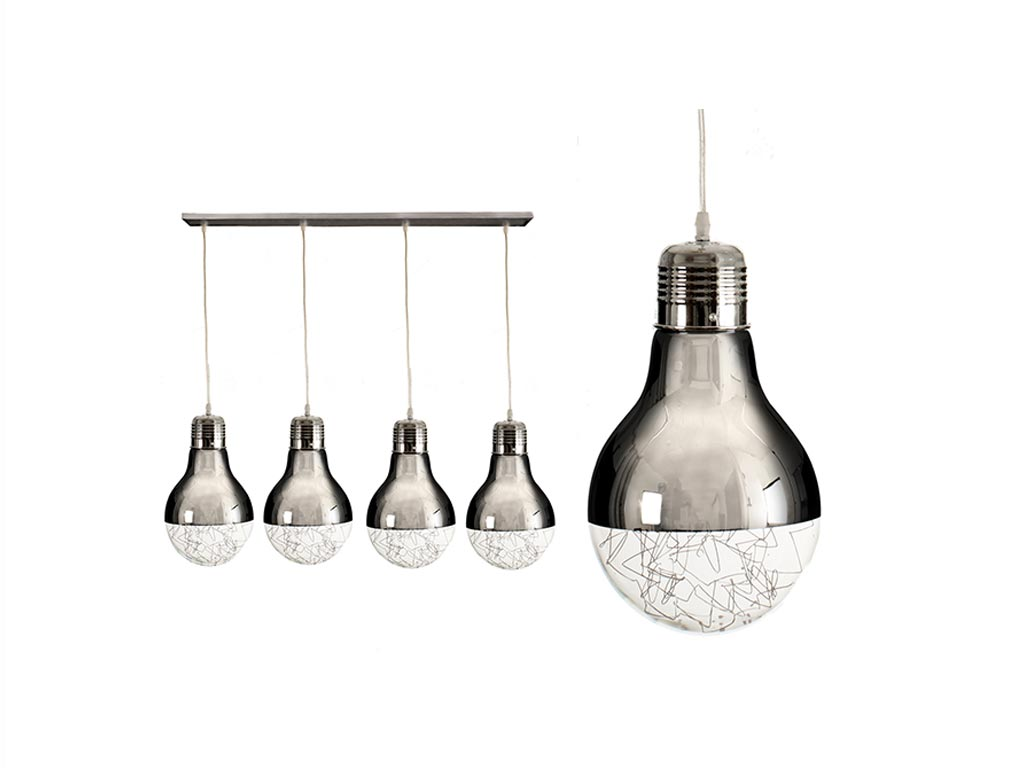 Φωτιστικό Οροφής με 4 κρεμαστές λάμπες, 13x90x105cm, Spherical Chandelier Gift D διακόσμηση και φωτισμός   led φωτισμός