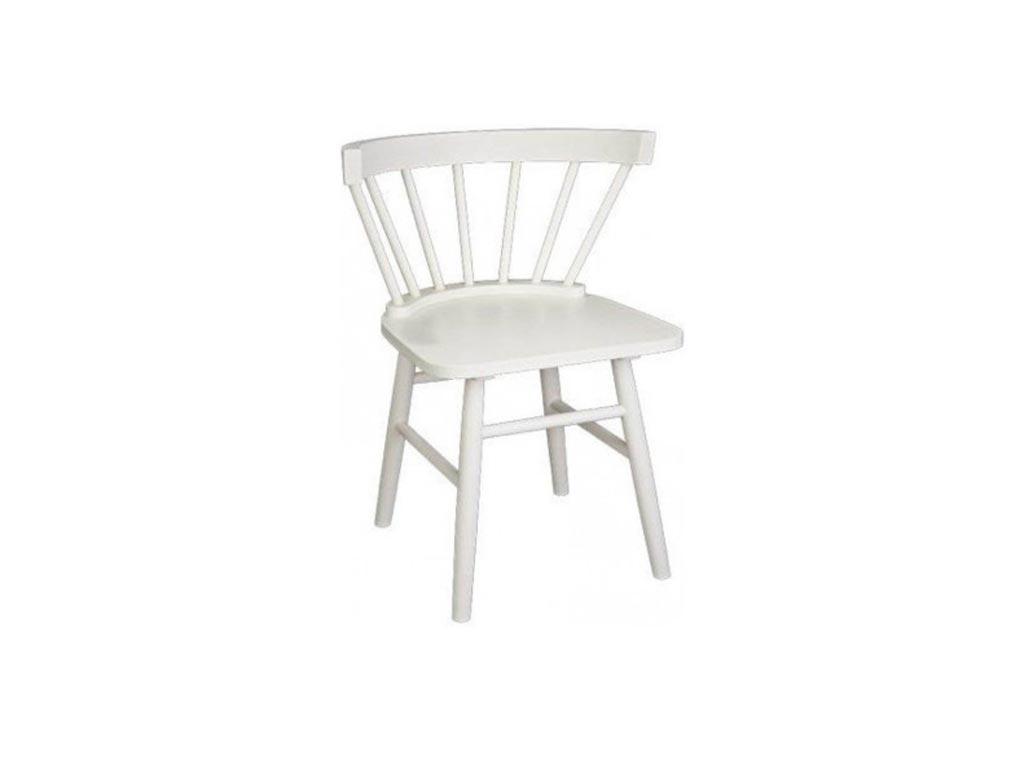 Elephant Ξύλινη Καρέκλα εσωτερικού χώρου σε Λευκό χρώμα, 49x46x77cm, Chair Veni - Elephant