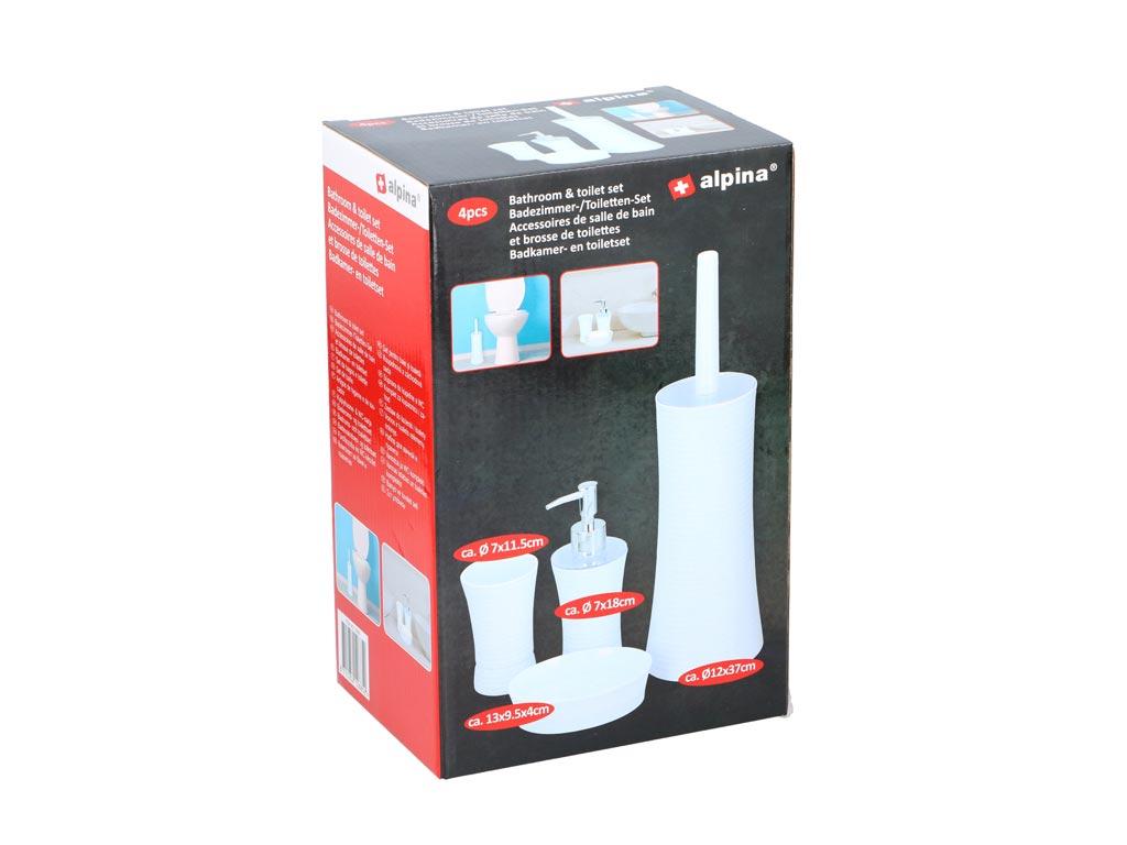 Σετ Μπάνιου 4 τεμαχίων με Πιγκάλ, Ποτήρι, Dispenser Σαπουνιού και Βάση Σαπουνιού μπάνιο   πιγκάλ