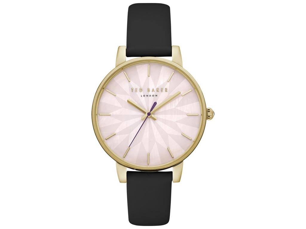 Ted Baker Γυναικείο Ρολόι χειρός με Καντράν σε Ροζ απόχρωση, Χρυσή Κάσα και Μαύρ ρολόγια χειρός   γυναικεία ρολόγια χειρός