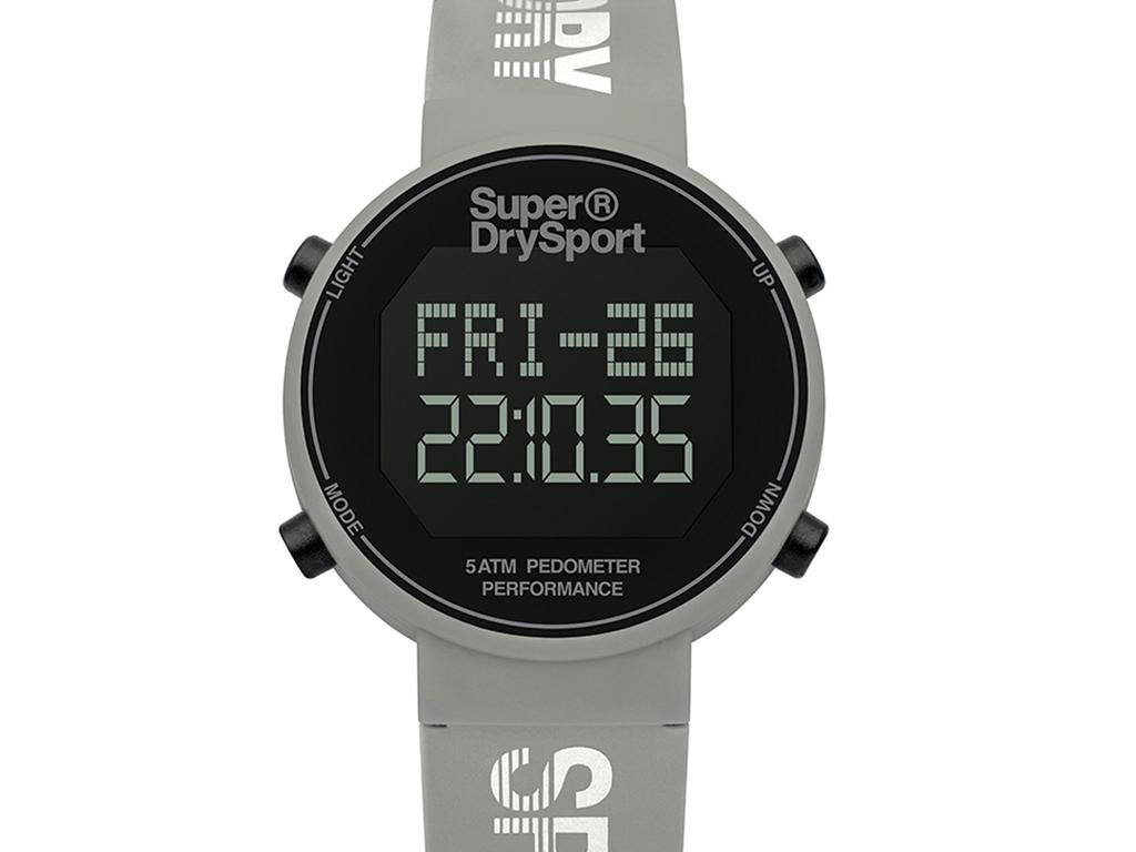 020a526be6 Hellas-tech Ψηφιακό Ρολόι χειρός Superdry Sport Pedometer Unisex Αθλητικό  με λειτουργία μέτρησης βημάτων και λουράκι από καουτσούκ