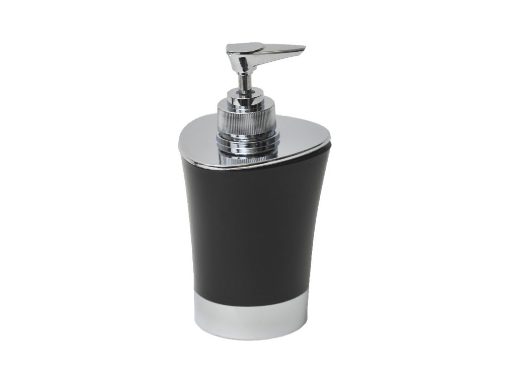 Διανεμητής σαπουνιού Dispenser, Δοχείο για κρεμοσάπουνο με αντλία σε Μαύρο χρώμα μπάνιο   αξεσουάρ μπάνιου
