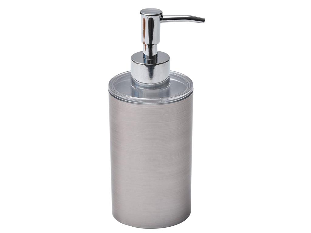 Διανεμητής σαπουνιού Dispenser, Δοχείο για κρεμοσάπουνο με αντλία σε Ασημί χρώμα μπάνιο   αξεσουάρ μπάνιου