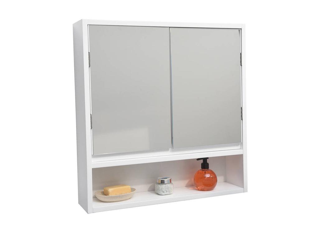 Επιτοίχιο Ντουλάπι Μπάνιου MDF με ενσωματωμένο καθρέφτη για τον τοίχο, διαστάσεω μπάνιο   έπιπλα μπάνιου