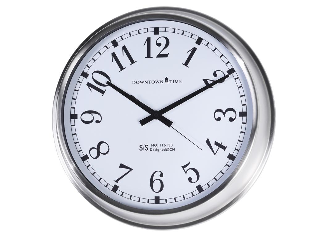 Μεταλλικό Ρολόι Τοίχου διαμέτρου 52cm, με λατινικά νούμερα, σε Ασημί χρώμα - Cb διακόσμηση και φωτισμός   ρολόγια τοίχου  επιτραπέζια και επιδαπέδια ρολόγια