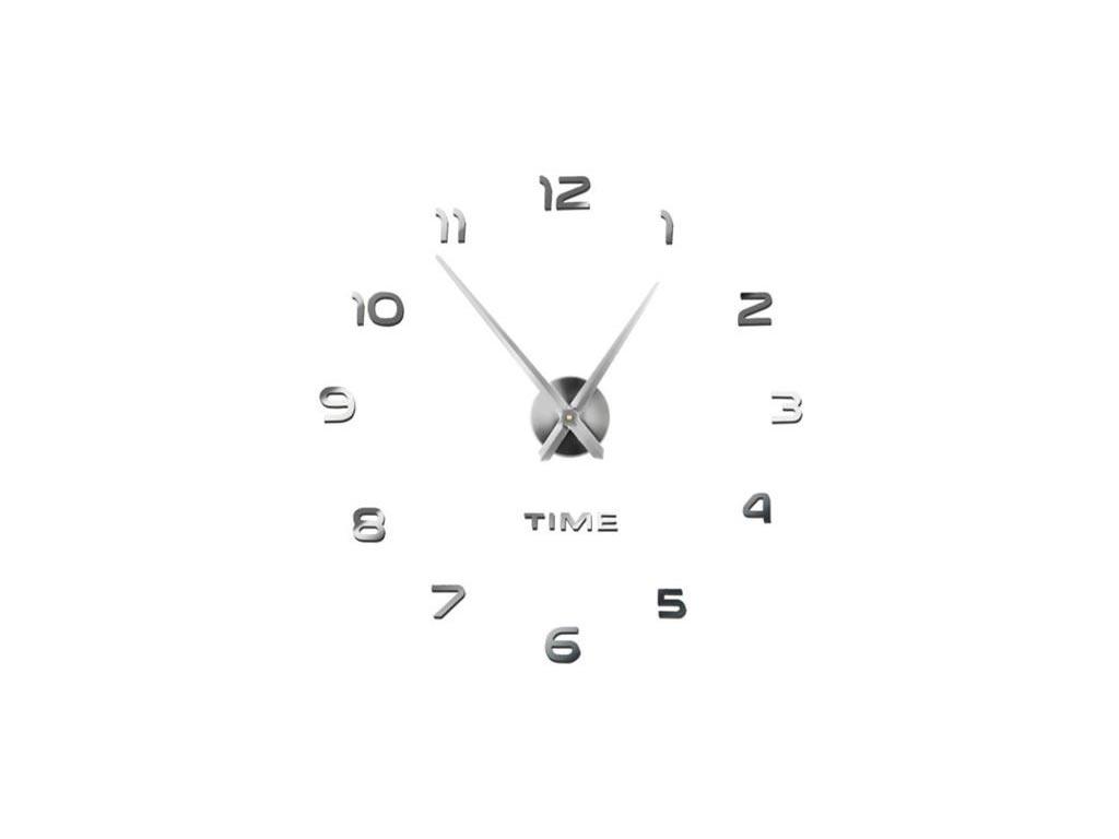 Διακοσμητικό Ρολόι Τοίχου 3D με εφέ καθρέφτη διαμέτρου 60-130cm - Cb
