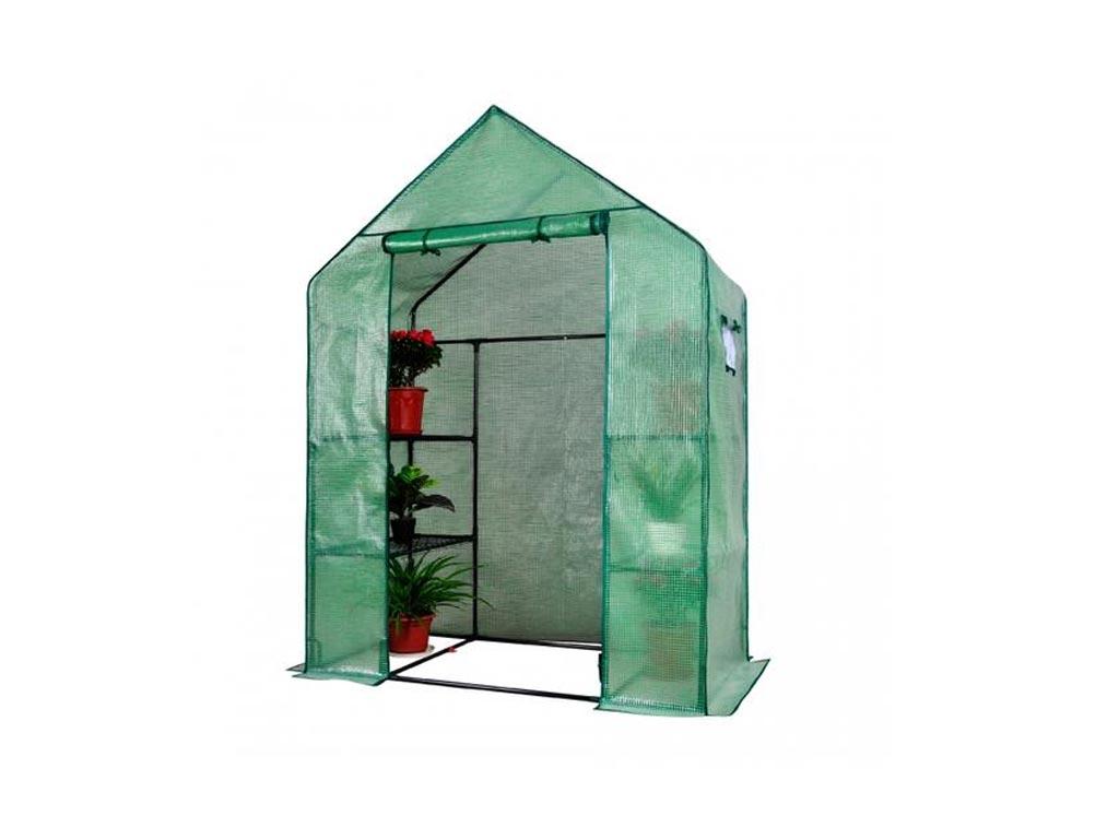 Διάφανο Θερμοκήπιο Walk-in με Παράθυρα για την αυλή σας, 143x73x195cm, Herzberg  κήπος και βεράντα   εργαλεία κηπουρικής