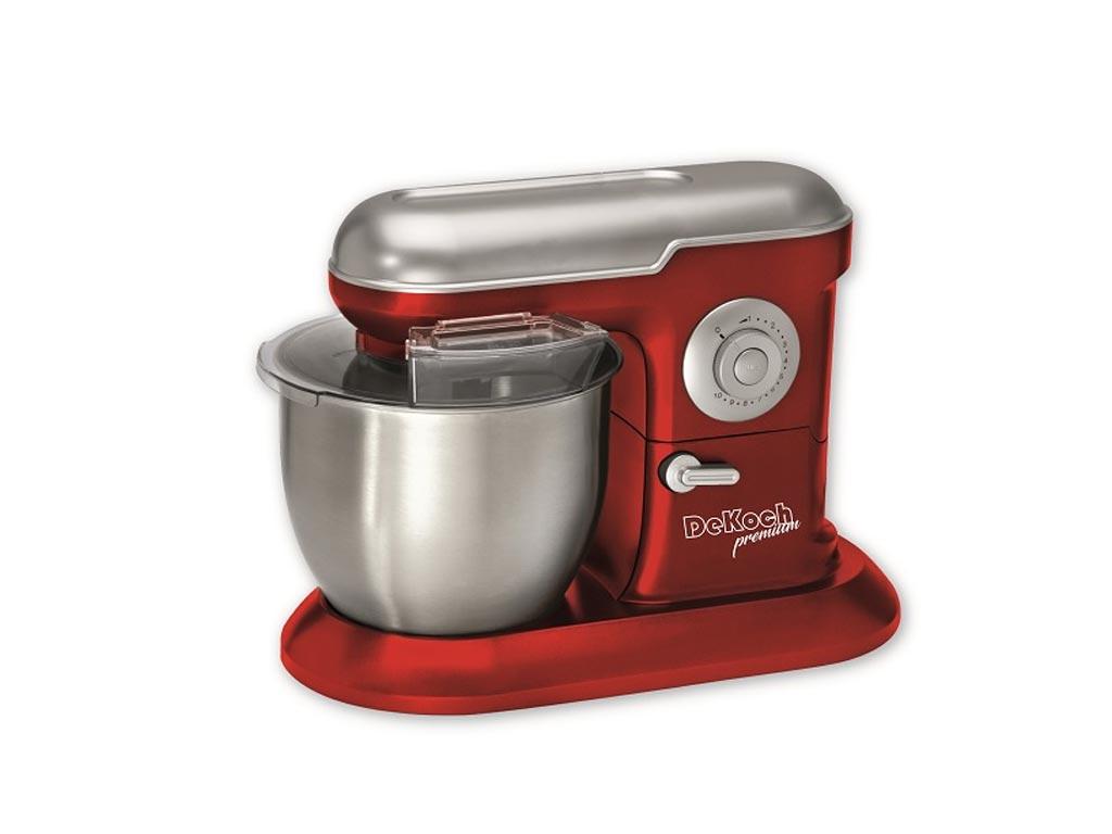 Dekoch Κουζινομηχανή Μίξερ 1200W με Κάδο 6.5L και επιπλέον Αξεσουάρ σε Κόκκινο χρώμα DK-KM650 RED - Dekoch