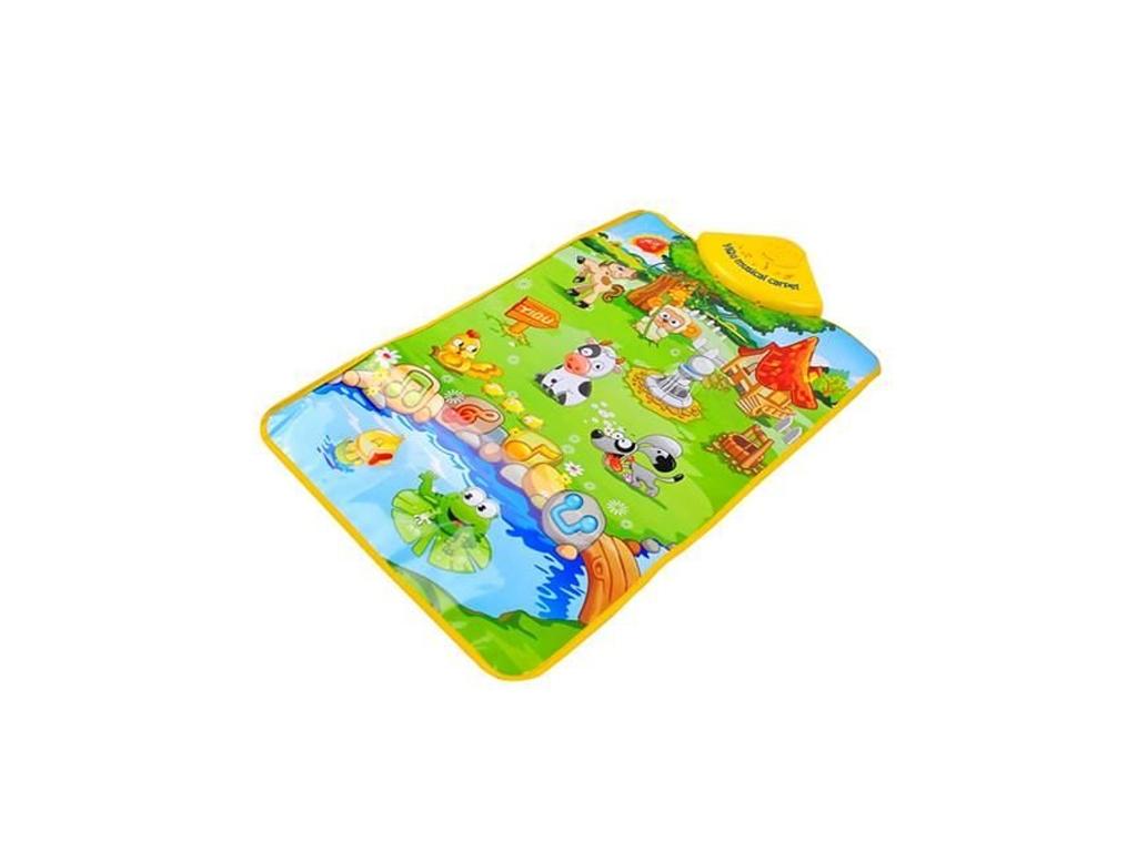 Παιδικό Χαλί Δραστηριοτήτων με ήχους, Παίζω και μαθαίνω τους ήχους από την Φάρμα των ζώων, διαστάσεων 60x40 εκατοστά - Cb