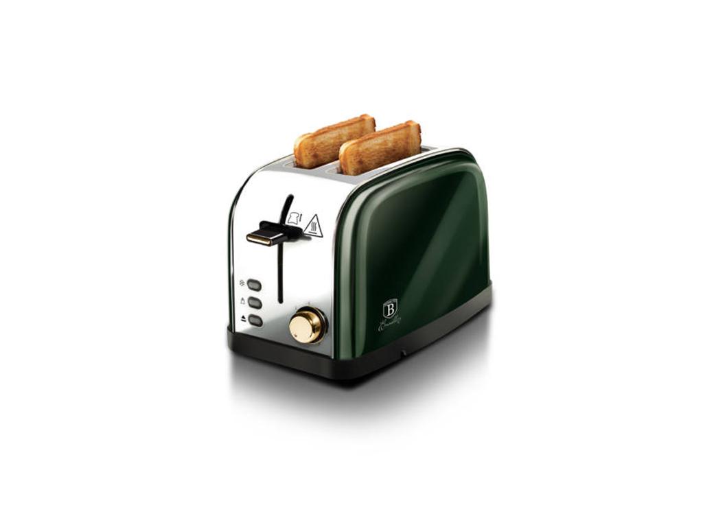 Berlinger Haus Φρυγανιέρα 850W 2 θέσεων σε Ασημί-Πράσινο χρώμα, Emerald Collection BH-9058 - Berlinger Haus