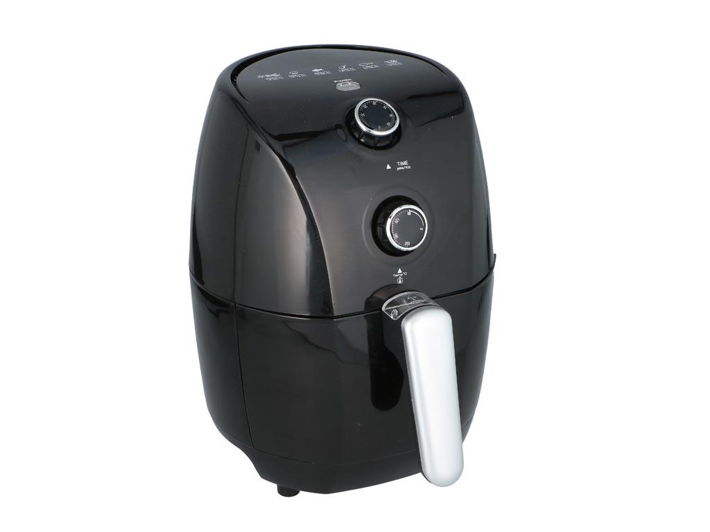 Cuisinier Deluxe Φριτέζα Αέρος 1.5L 900W για Υγιεινό μαγείρεμα χωρίς ή με ελάχιστο λάδι σε μαύρο χρώμα - Cuisinier Deluxe