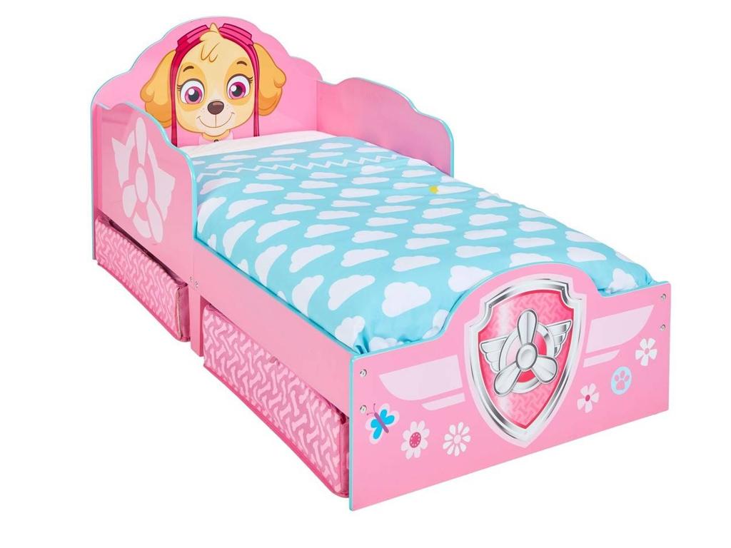 Παιδικό Μονό κρεβάτι για κορίτσι με θέμα την sky απο την σειρά Paw Patrol, διαστ κατοικίδια   κρεβάτια και στρώματα