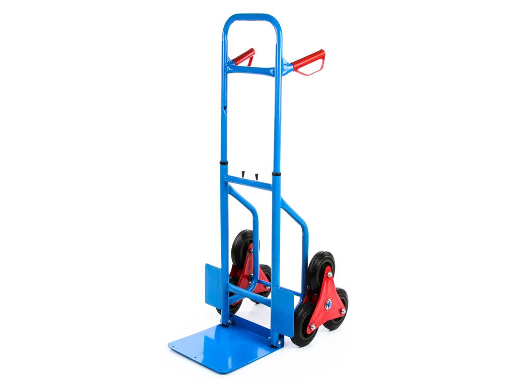 Επαγγελματικό Πτυσσόμενο Καρότσι μεταφοράς, ρυθμιζόμενο, για μέγιστο Βάρος 200Kg με 6 ρόδες σε Μπλε και Κόκκινο χρώμα - Cb