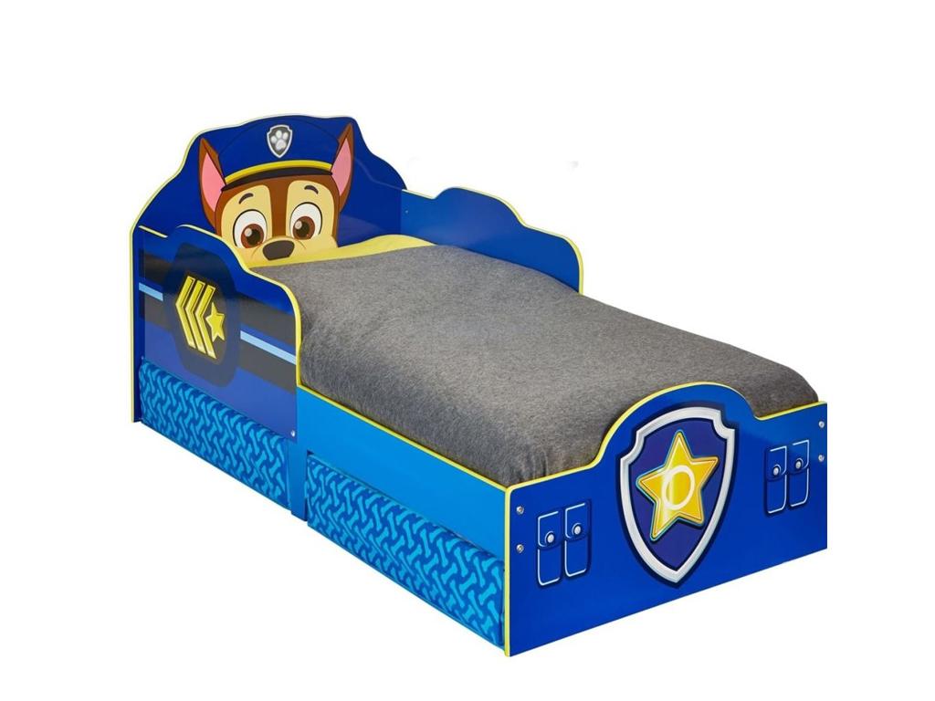 Παιδικό Μονό κρεβάτι Paw Patrol, με ενσωματωμένα συρτάτια, διαστάσεων 145x68x77  κατοικίδια   κρεβάτια και στρώματα