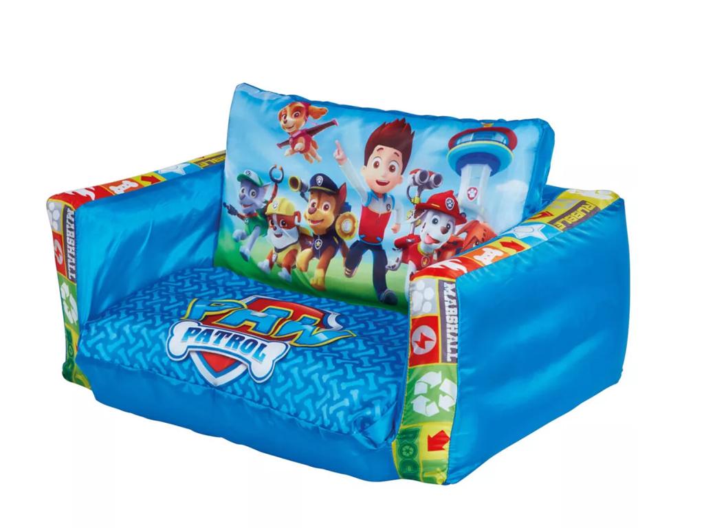 Paw Patrol Φουσκωτό Παιδικό Πουφ Πολυθρόνα που γίνεται κρεβάτι, διαστάσεων 105x6