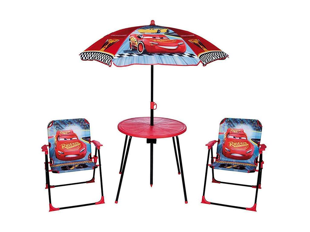 e8b4525f09c Hellas-tech Disney Cars Παιδικό Σετ κήπου βεράντας με Τραπέζι, Ομπρέλα και  δύο καρέκλες κατάλληλο για εξωτερικό