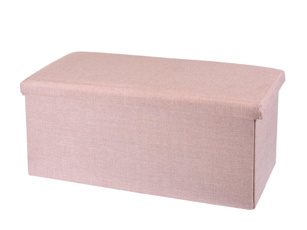Υφασμάτινο Σκαμπό με αποθηκευτικό χώρο διαστάσεων , σε τρία χρώματα Ροζ - Cb