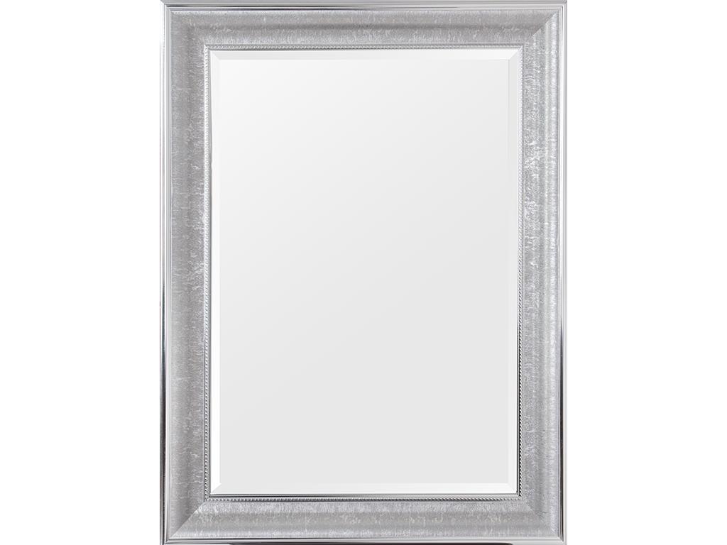 Τετράγωνος Καθρέφτης, κατάλληλος για διακόσμηση, με πλαίσιο σε ασημί-γκρι χρωματισμό με διαστάσεις 60x80 εκατοστά, Tabea - Cb