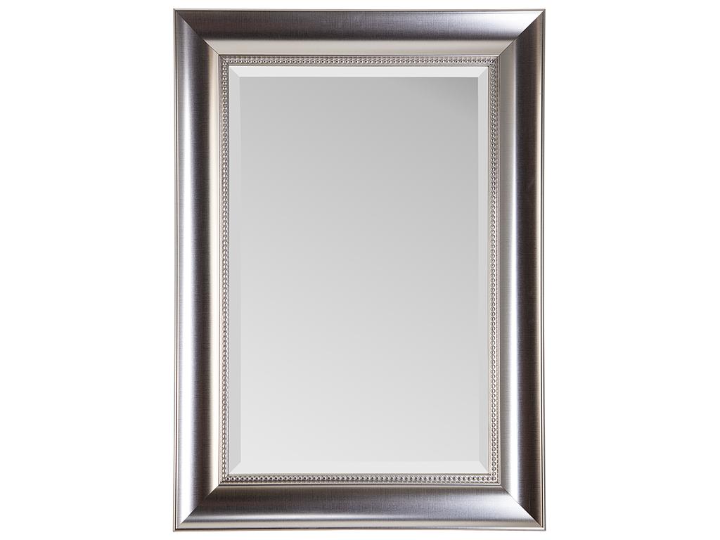 Τετράγωνος Διακοσμητικός Καθρέφτης Claire σε ασημί χρώμα με μεταλλικό πλαίσιο και διακοσμητικές λεπτομέρειες, με διαστάσεις 50x70cm - Cb