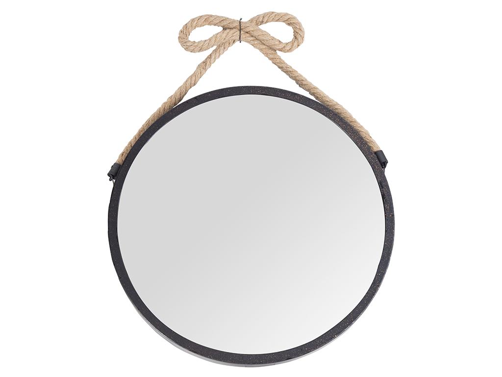 Διακοσμητικός επιτοίχιος Στρογγυλός Καθρέφτης με σχοινί, διαμέτρου 30 εκατοστά - Cb