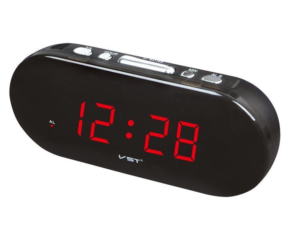 Ρολόι LED Ψηφιακό Επιτραπέζιο με Ξυπνητήρι, σε χρώμα Μαύρο, VST-715 - Cb