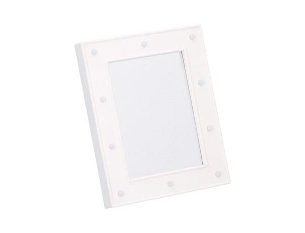 Διακοσμητικός Τετράγωνος Καθρέπτης με LED φως, διαστάσεις 23.7x18.7x2.9 εκατοστά, Arti Casa Λευκό - Arti Casa