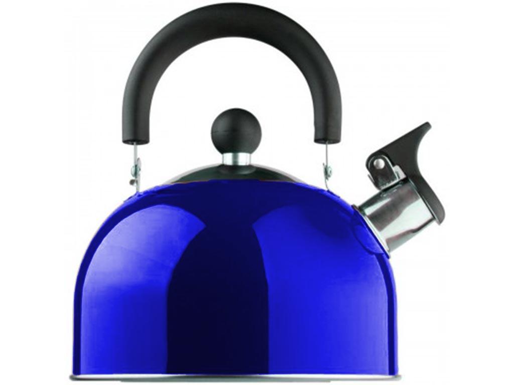 Βραστήρας Νερού 1.5lt, με ηχητική ειδοποίηση σφύριγμα, από ανοξείδωτο χάλυβα, σε 6 χρώματα Μπλε - Edenberg