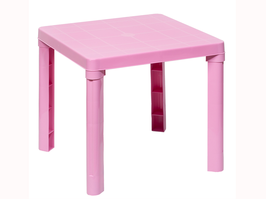 Παιδικό τραπέζι 50,3x50.3x46cm σε 4 χρώματα, Cb 89009 Χρώμα Ροζ - Aria Trade