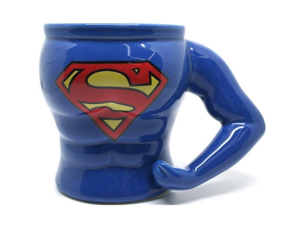 Κεραμική κούπα Superman 3D, χωρητικότητα 300ml, σε μπλε χρώμα, διαστάσεις 13.4x8x9.7 εκατοστά - Cb