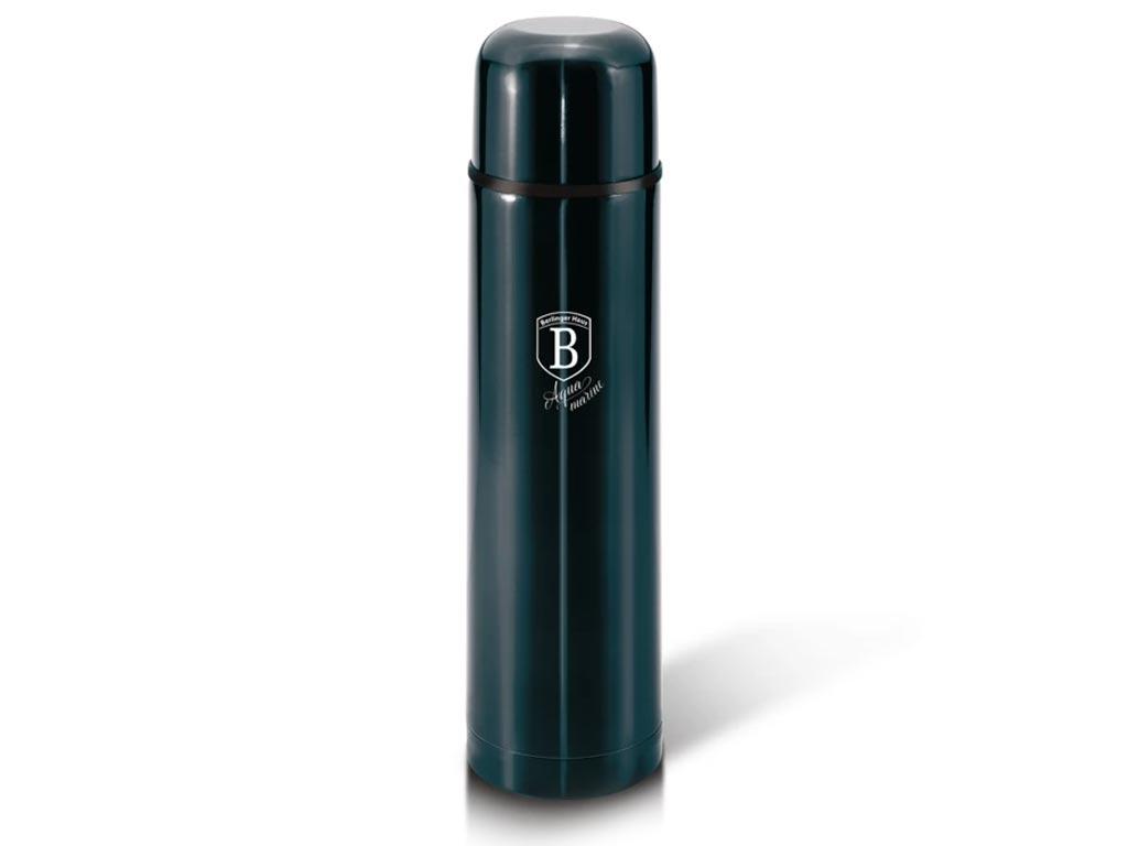 Berlinger Haus Θερμός με καπάκι 500ml από ανοξείδωτο ατσάλι, σε μεταλλικό πράσινο χρώμα, Aquamarine Edition, BH-6374 - Berlinger Haus