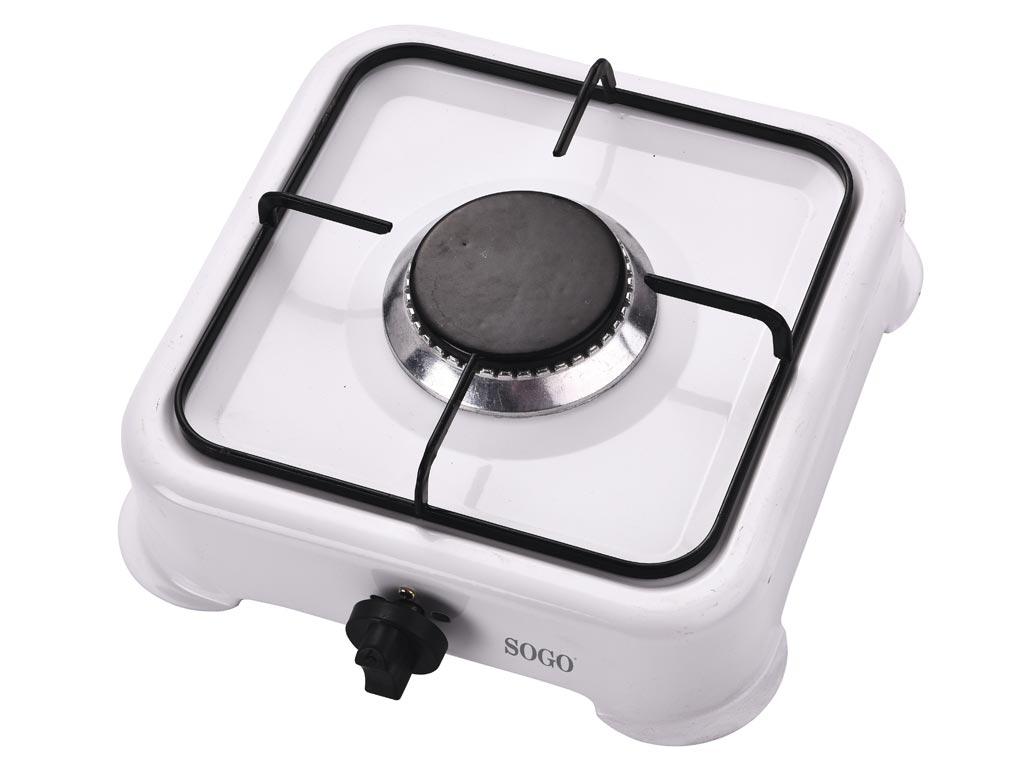 Φορητή Εστία Υγραερίου Βουτανίου με ρύθμιση θερμοκρασίας και μία εστία σε Λευκό χρώμα, Sogo COC-SS-10215 - SOGO
