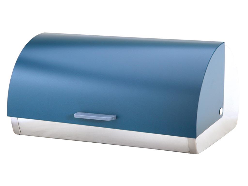 Ψωμιέρα από ανοξείδωτο ατσάλι σε πετρόλ, χρώμα, με συρόμενο καπάκι, διαστάσεων 38,5x8x18,5 εκατοστά, Michelino 46303 – Michelino