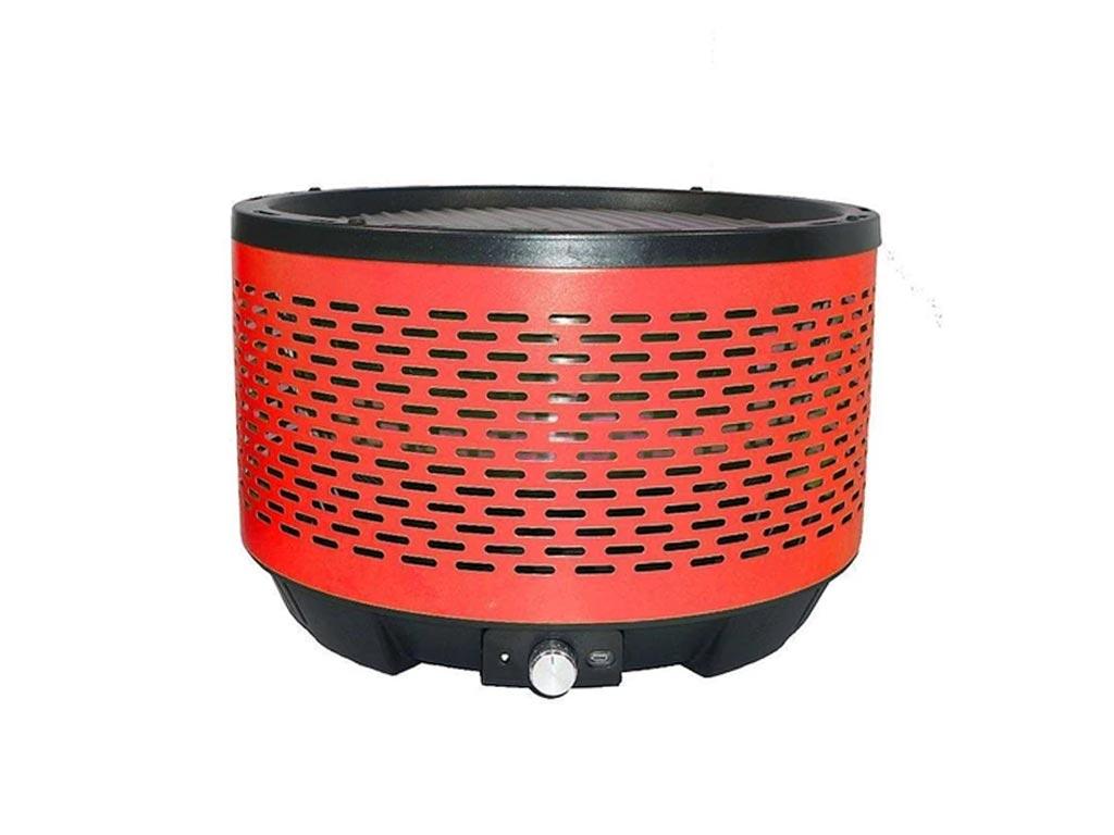 Φορητή Γκριλιέρα BBQ από Ανοξείδωτο Ατσάλι, σε κόκκινο χρώμα, διαστάσεις 32.4x22 εκατοστά, Cooltouch Grill - Aria Trade