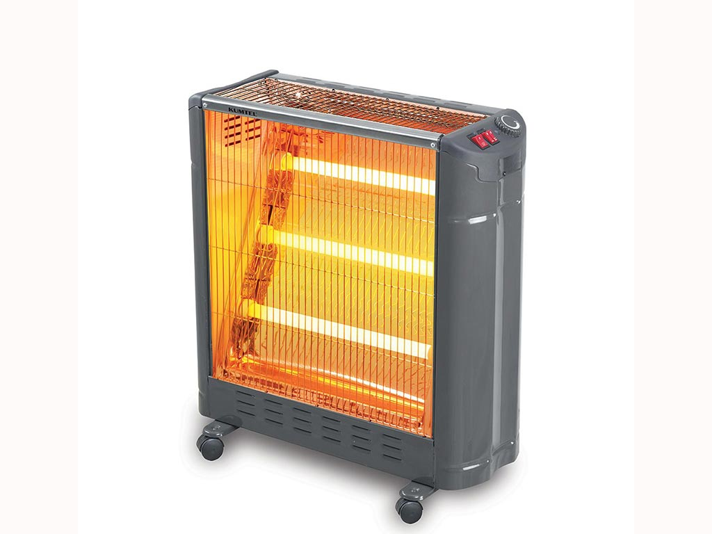Kumtel Ηλεκτρική Θερμάστρα Σόμπα Χαλαζία 3000watt με υγραντήρα και 3 υπέρυθρες λάμπες, υψηλής απόδοσης και ισχύος, KS-2861 - Kumtel
