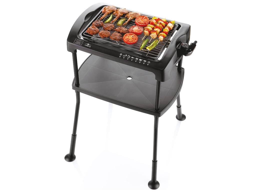 Ηλεκτρική Σχάρα Ψησταριά Μπάρμπεκιου BBQ Γκριλ Grill 2000W με σταντ, ύψους 71 εκατοστά, Lentz 20250
