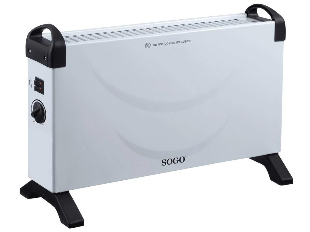 Sogo Ηλεκτρικό Φορητό Καλοριφέρ Θερμαντικό Σώμα με Μέγιστη Ισχύ 2000W και 3 επίπεδα θέρμανσης, CAL-SS-18415 - SOGO