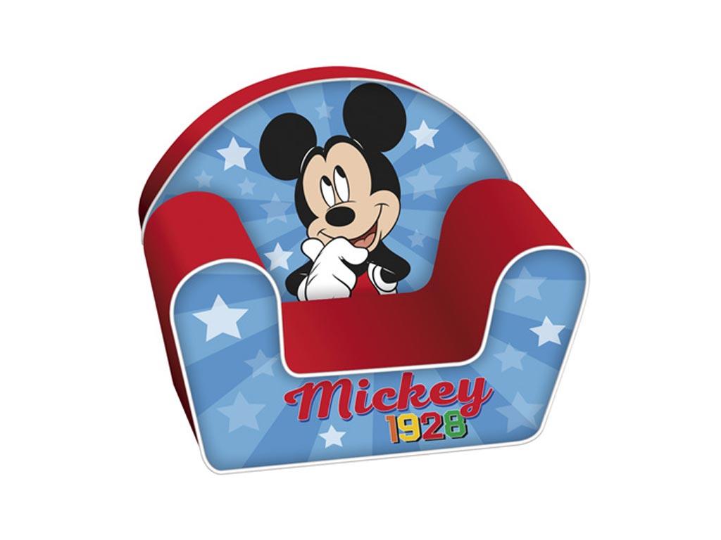 Παιδική Πολυθρόνα με θέμα Mickey σε μπλε χρώμα, διαστάσεις 42x52x32 εκατοστά - Aria Trade