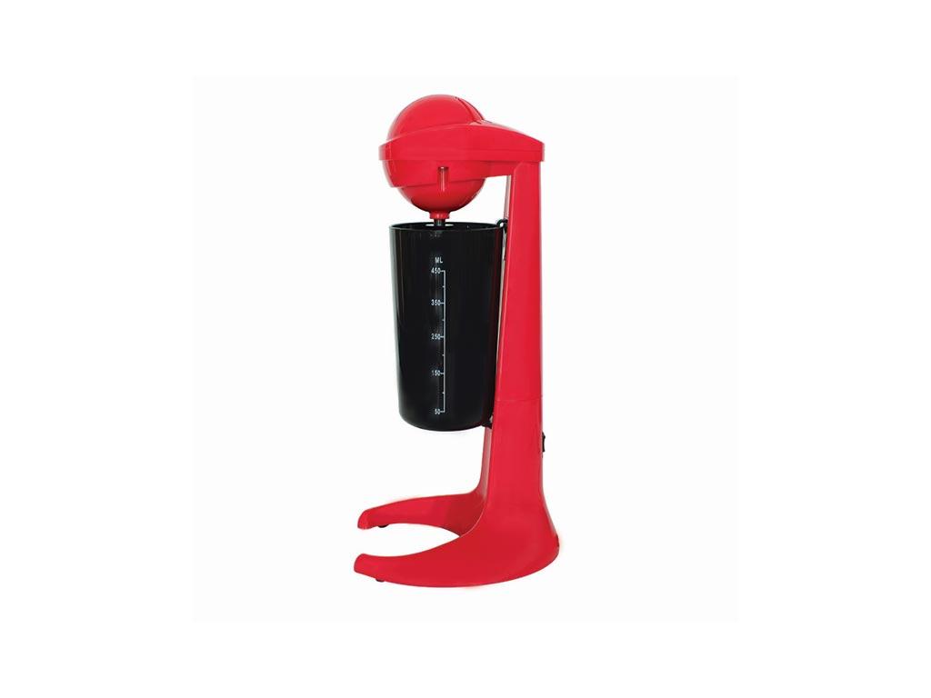 Ηλεκτρικό Μίξερ Αναδευτήρας Φραπεδιέρα για milkshakes και άλλα ροφήματα σε κόκκινο χρώμα - Aria Trade