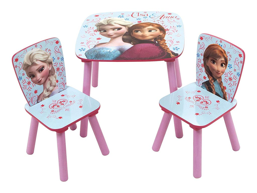 Ξύλινο Παιδικό Σετ Τραπεζάκι με 2 καρέκλες με θέμα Frozen, διαστάσεις 50x50x44 εκατοστά - Aria Trade