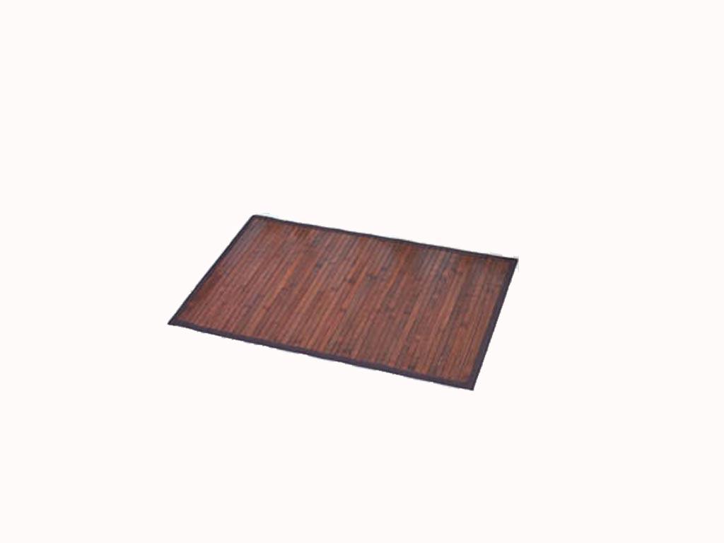 Πατάκι μπάνιου από ξύλο Bamboo σε φυσικούς τόνους, 50×80 cm