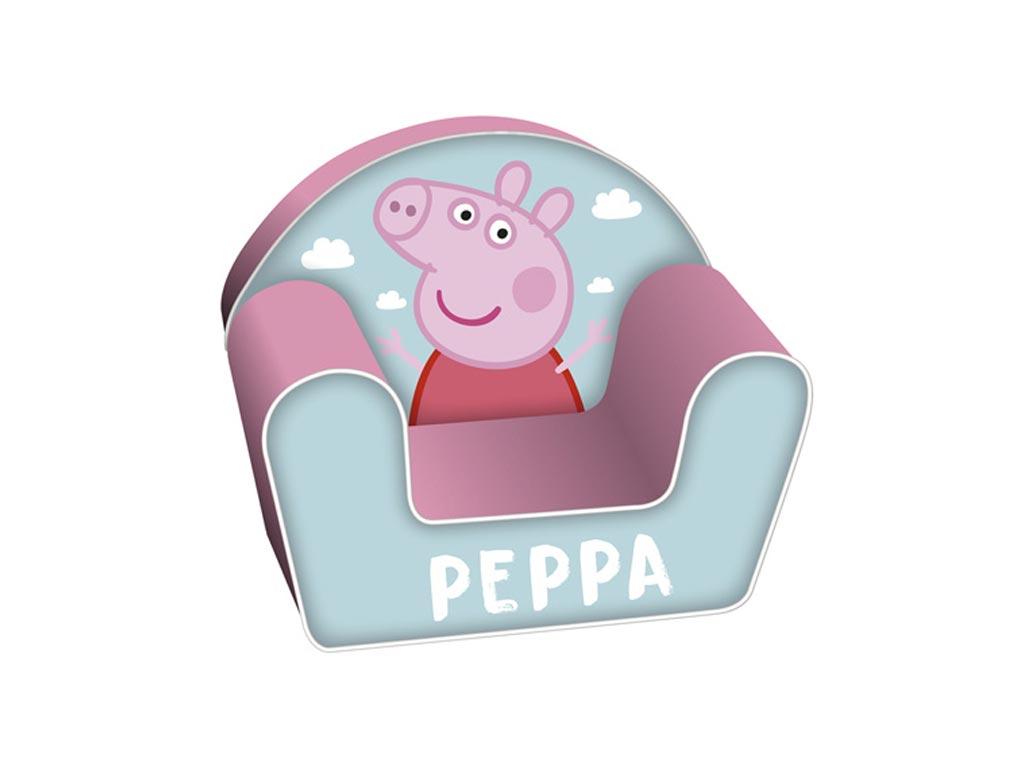 Παιδική Πολυθρόνα με θέμα Peppa σε ροζ χρώμα, διαστάσεις 42x52x32 εκατοστά - Aria Trade